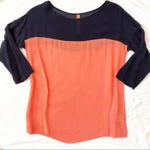 Eight Sixty Colorblock Blouse Size XS